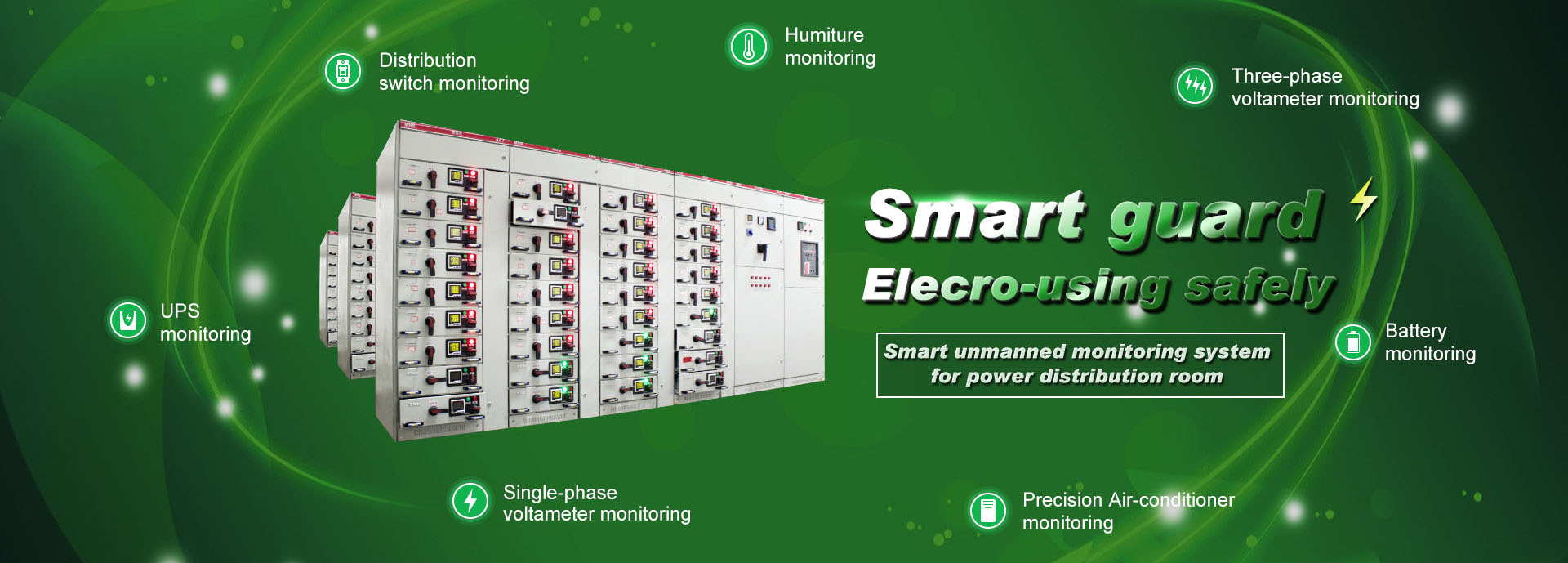 Power distribution station envrmt monitoring system